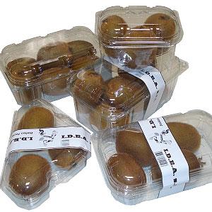 Sistema di confezionamento in cestini con coperchio solidale